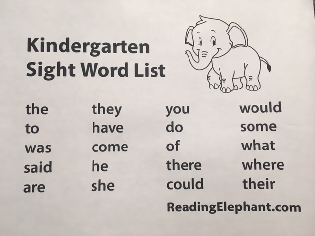 Kindergarten Sight Words Free Printable Reading Elephant - 45+ Words Worksheets Kindergarten Sight Words Pdf Free Pictures