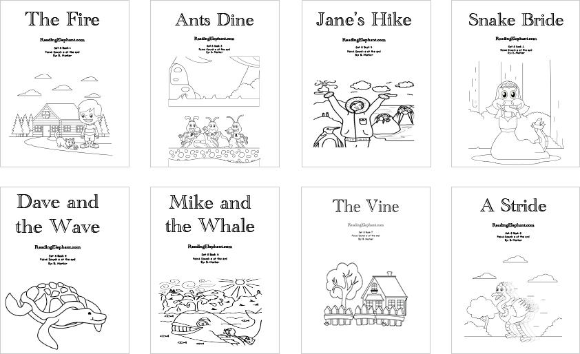 Bundle Special Printable Phonics Books Reading Elephant