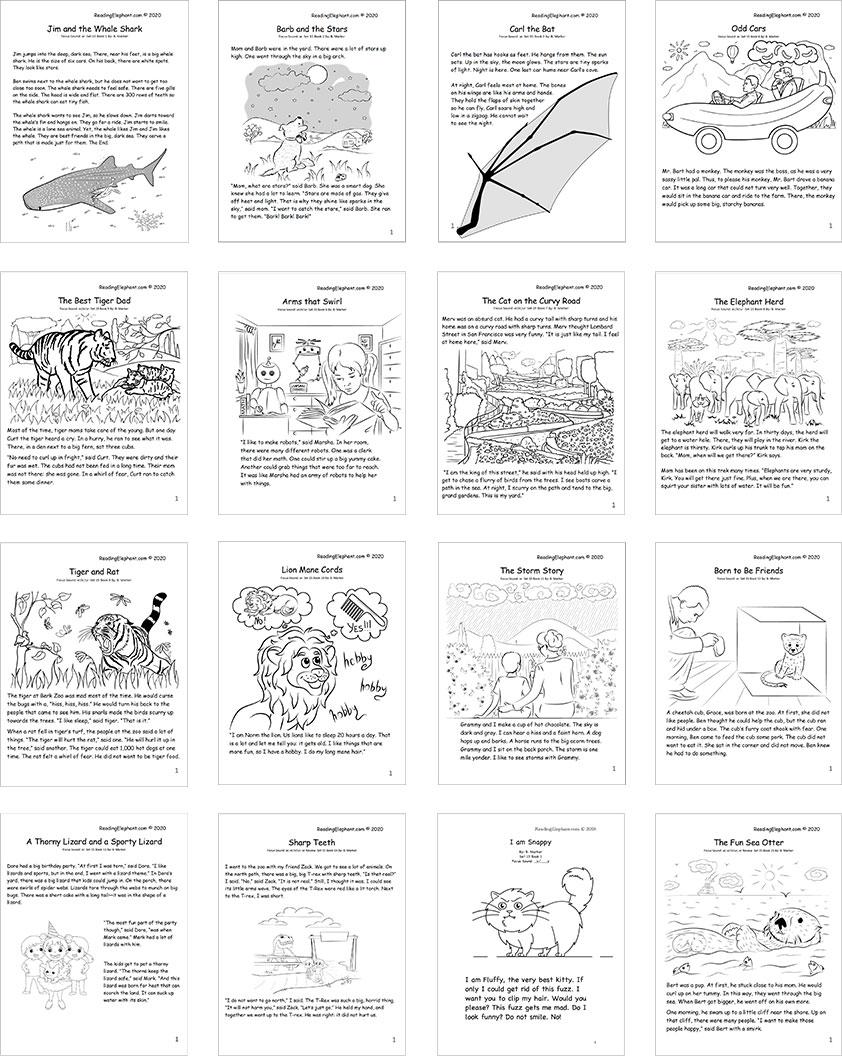 printable phonics books - set 15