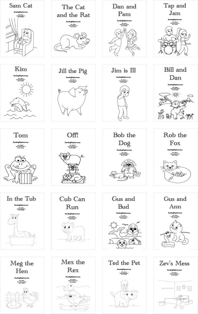 phonics books for preschool and grade school
