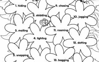 ing words worksheet