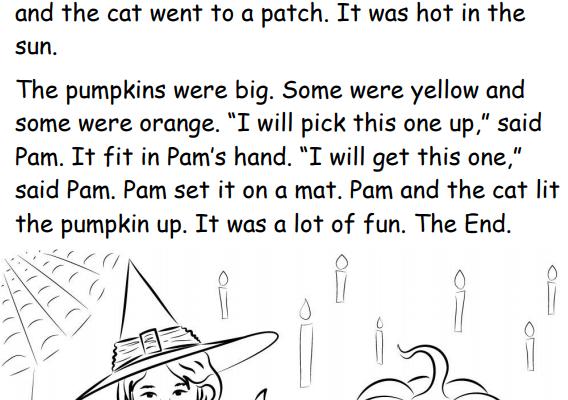halloween kindergarten phonics story