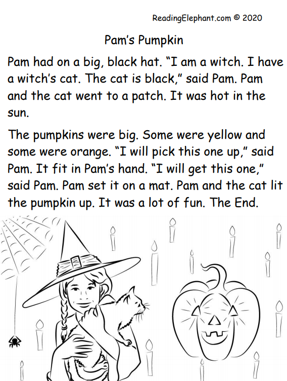 halloween kindergarten phonics story