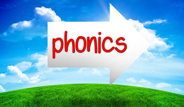 arrow with word phonics written on it